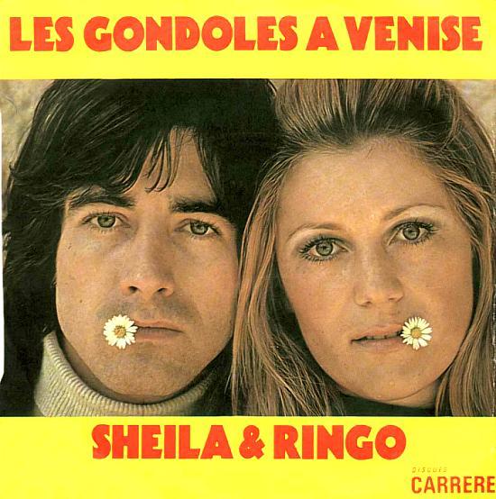 56 : 32EME 45 TOURS (23 FÉVRIER 1973) LES GONDOLES A VENISE, en duo avec RINGO &