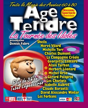 99-99-127 : SHEILA AVEC LA TOURNÉE ÂGE TENDRE ET TÊTES DE BOIS (2010/2011) SAISON 5   2009-4