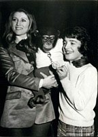 Jan. 28, 1972 - Sheila Holding a Chimpanzee with Stephane Coulon